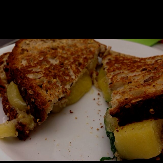 Rockin' out some grilled cheese with my Porps. Delicious!