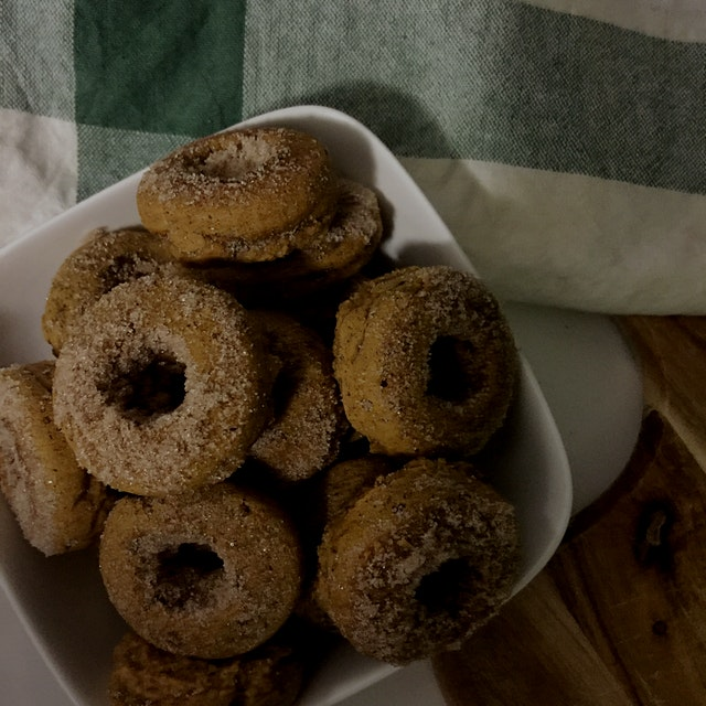 Mini Apple cider pumpkin muffins!