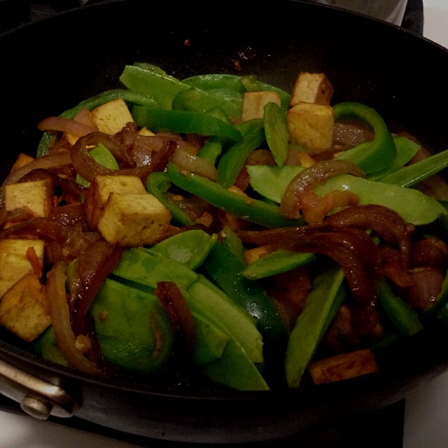 """So full disclosure, when I say """"I cooked dinner"""" these days, I almost certainly mean I sautéed so..."""