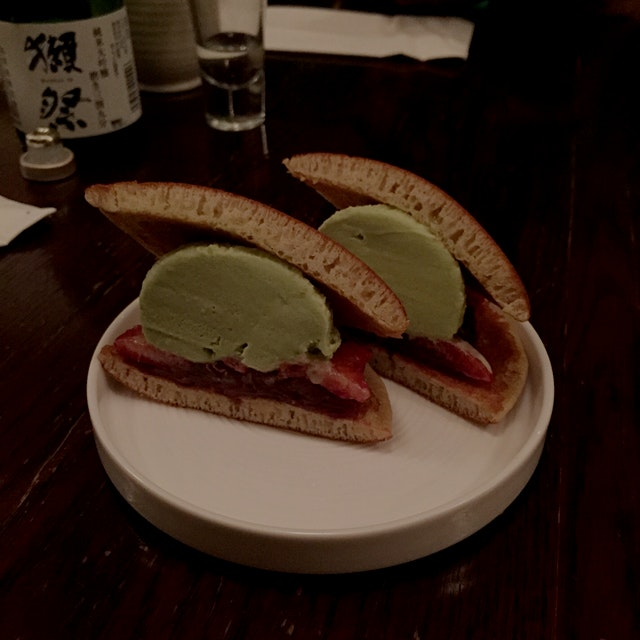 Kyoto-style ice cream sandwich.