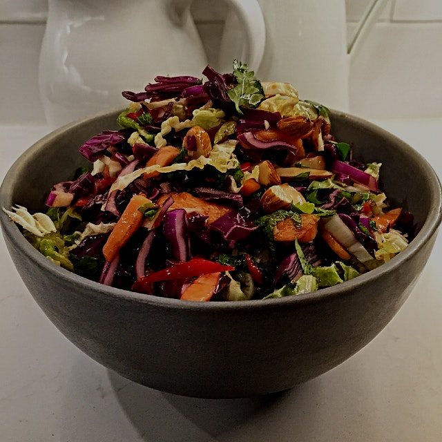 Tried a new recipe from 'Plenty' by Yotam Ottolenghi. Sweet Winter Slaw is a fabulous Asian inspi...