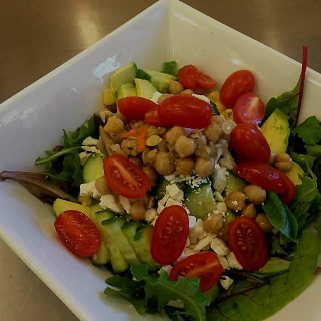 Boom! Made a fancy salad at work today #notchopt